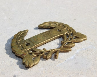 Vintage  ROTC Medallion  Brass