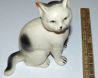 Vintage Ceramic Cat Figure from Japan