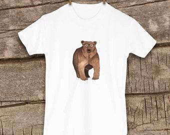 Grizzly Bear Shirt, Bear Shirt, Toddler Clothes, Cute Kids Clothes, Kids Clothes, Hipster Kids clothes, Girl Shirt, Boy Shirt