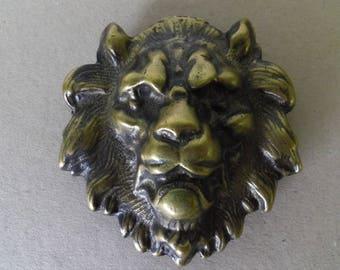 Buckle Lion's head in bronze