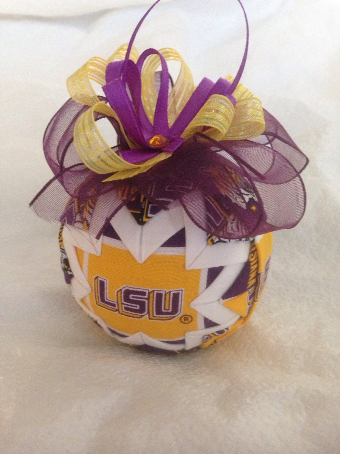 Louisiana State University Tigers Inspired Quilted Christmas