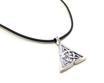 Celtic Knot Triquetra Choker Necklace, Celtic Trinity Choker, Celtic Knot Necklace, Silver Celtic Choker, Trinity Knot Choker,Trinity Symbol