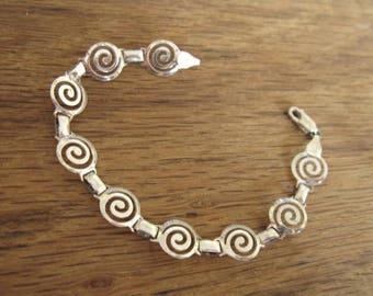 """Sterling Silver 9 mm Spiral Link Bracelet 6.75"""" (1688)"""