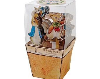 Peter Rabbit Cake Toppers, Peter Rabbit Cupcake, Peter Rabbit Party Tableware, Peter Rabbit Birthday, Peter Rabbit Baby Shower, Christening,
