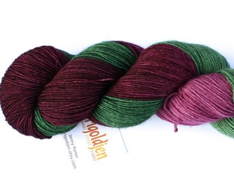 Larkspur--hand dyed sock yarn, BFL and nylon, (464yds/100gm)