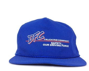 On Sale Now DFC Trucking Company Safety Our Driving Force Baseball Cap Hat Adjustable Leather Strapback Poly Cotton