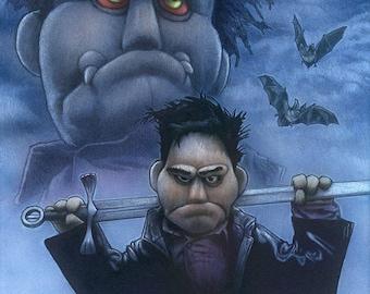 Wee Little Puppet Man - Original Art