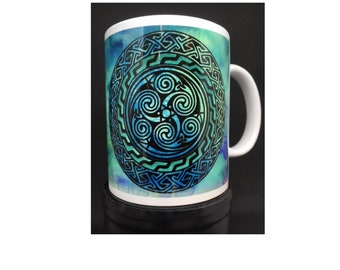 Celtic design spiral mug