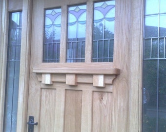 Arts And Crafts Style Solid Oak Door Made To Measure .