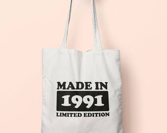 Made In 1991 Limited Edition Tote Bag Long Handles TB1754