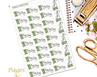 Pay Day Planner Stickers/ Finance Stickers/ Functional Stickers/ Erin Condren/ Plum Paper/  Happy Planner/ Filofax  #050