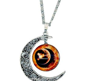 Cosmos half moon necklace