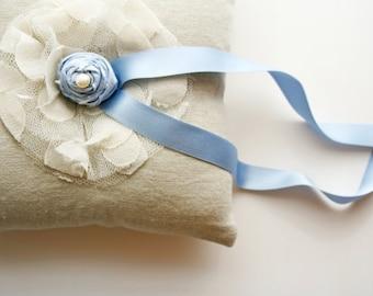 Ring Bearer Pillow, Something Blue, Ring Cushion, Ring Bearer