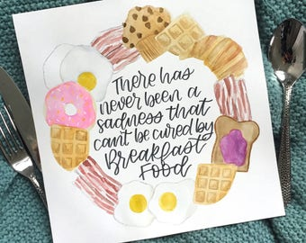Parks and Recreation Inspired Breakfast Food Wreath