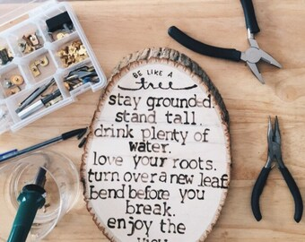 Personalized natural wood slice