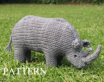 Rhino Knitting Pattern, PDF
