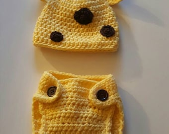 Baby Giraffe Hat and Diaper Cover