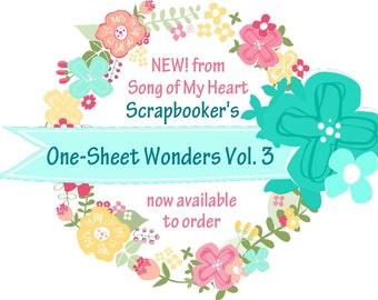 Vol. 3 Scrapbooker's One-Sheet Wonders: Instant Digital Download