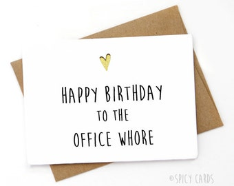 Funny coworker birthday card co worker funny birthday card funny birthday card birthday card for co worker birthday card for best friend bookmarktalkfo Gallery