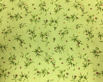 """Catalina Wispy leaves, item# MAS8407-G for Maywood Studio, 100% cotton fabric by the yard, 44-45"""" width"""