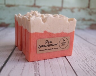 Pink Grapefruit All Natural Goat's Milk Soap - scented with essential oils