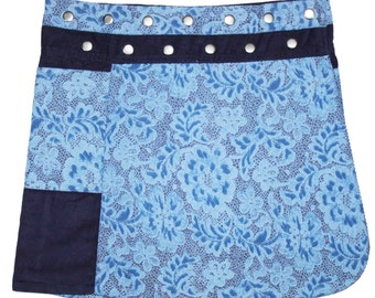 Gugi Reversible Classic Corduroy Wrap Skirt