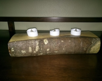 Maple Three Tea Candle Holder