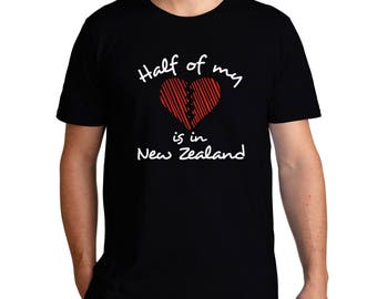 Half Of My Heart Is In New Zealand T-Shirt