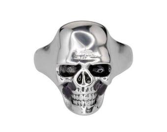 LadiesSkull Ring Stainless Steel Lady Biker Jewelry
