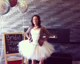 """Bridal Tutu for waist 35"""" up to 45""""  great for Halloween, Birthdays, Dance and Bachelorette parties"""