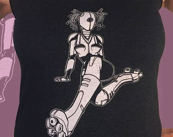 Roller Girl Robot Womens Derby Tank - Next Level Apparel