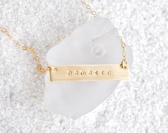 Gold Namaste Necklace
