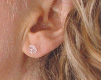 Quartz Crystal Stud Post Earrings