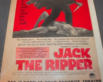 Print advertising for JACK THE RIPPER (1959) Joseph E Levine Paramount Pictures