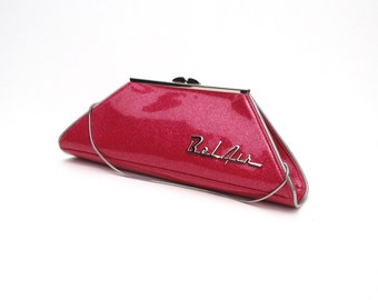 Couture Vintage Car inspired Handbag. Handmade in the USA- Pinky Lee- Coupe Bel Air Hot Pink