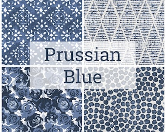 Prussian Blue Collection. Blue Drapery Panels. Pair of Two.  Pick a Size. Blue Curtains. Prussian Blue. Custom Window Treatments. Blue.