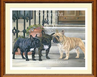 FRENCH BULLDOGS limited edition print 'The Rendezvous'