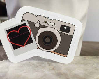 Camera With Film and Saying, Sticker