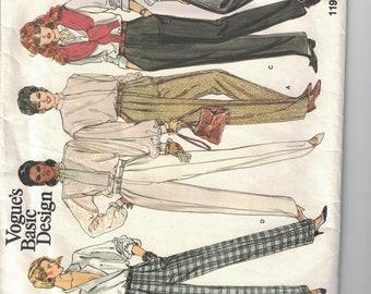 Vogue Basic Designs 1199 Vintage Pattern Womens Pants In 5 Variations Size 10 UNCUT