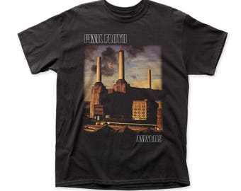 Pink Floyd Animals Men's Traditional Fit 18/1 Cotton Tee (PF05) Black