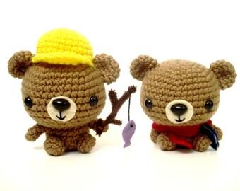 Best Brothers Amigurumi Crochet Plush Bears