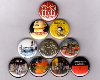 "Radiohead 1"" Pins / Buttons (Pablo Honey Kid a Amnesiac Shirt Ok Computer Poster)"