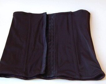 Black Waist Cincher Stretch Fabric