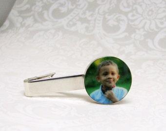 Sterling Silver Photo Tie Clip - A10