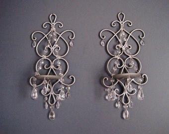 CUSTOM ORDER For Renee 2 SETS Silver Splendor and Romantic Getaway Candle Sconces All in Silver