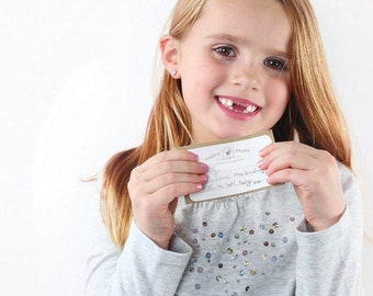The Tooth Fairy Kit™ // Set of 8 Cards with 8 Envelopes // Lost tooth, tooth fairy ideas, tooth fairy receipts, first tooth ideas, TFK