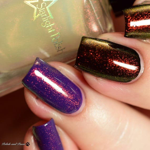 Phoenix Duochrome Color Shifting Top Coat Shimmer Red to Green