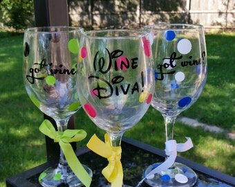Personalize Wine Glasses