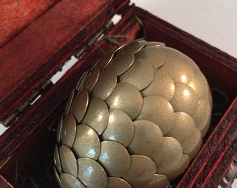 Dragon Egg with Box - Dragon Egg with Chest - Dragon Egg Decor - GoT Dragon Egg - GOLD - Regal Style Box
