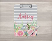 Personalized Clipboard - Monogram Clipboard - Floral Clipboard - Nurse Clipboard - Teacher Gift - Coach Clipboard - Double Sided Clipboard